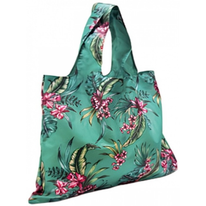 shopper 50 x 20 cm polyester turquoise