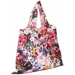 boodschappentas XL bloemen 59 x 48 cm polyester roze/rood
