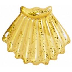 luchtbed schelp glitter 172 x 165 cm goud