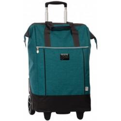 shopping trolley 38 x 62 x 28 cm polyester blauw/groen