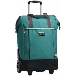 shopping trolley 38 x 62 x 28 cm polyester petrolblauw
