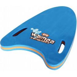 zwemplank junior 44,5 x 30 x 3 cm EVA foam blauw/oranje