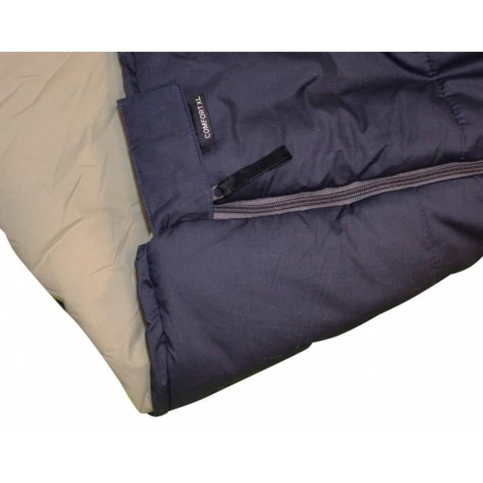 slaapzak Comfort XL 220 x 100 cm katoen navy