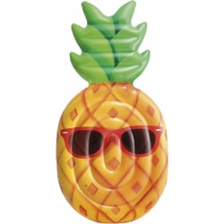 luchtbed Ananas 226 x 119 cm vinyl oranje/groen