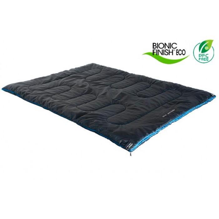 slaapzak Ceduna Duo polyester 200 x 150 cm zwart/blauw