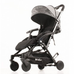 Kekk buggy K2 Go Plus 105 cm polyester/aluminium zwart/grijs