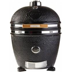 Yakiniku houtskoolbarbecue Kamado 22 inch keramiek/RVS zwart