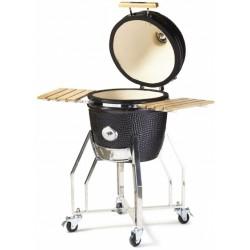 Yakiniku houtskoolbarbecue Kamado 16 inch keramiek/RVS