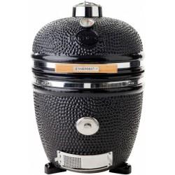 Yakiniku houtskoolbarbecue 19 inch keramiek/RVS zwart