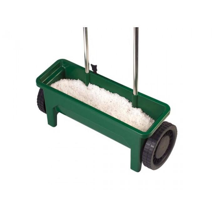 strooiwagen 12 liter 45 cm staal groen/zilver