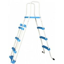 zwembadtrap A-Frame junior 122 cm wit/blauw
