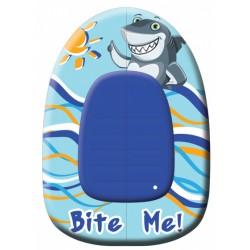 opblaasboot Shark junior 102 x 69 cm vinyl blauw/geel/wit