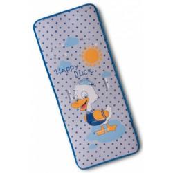 Gamberritos inlegkussen kinderwagen Duck 80 x 35 cm blauw