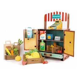 Clementoni rollenspel Play Creative Minimarket karton 8-delig