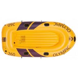 opblaasboot 252 x 125 cm PVC geel 4-delig