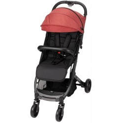 Interbaby kinderwagen Silla 84 x 99 x 51 cm polyester zwart/rood