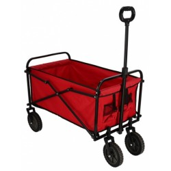 trolley 82 x 52 cm polyester/staal rood/zwart