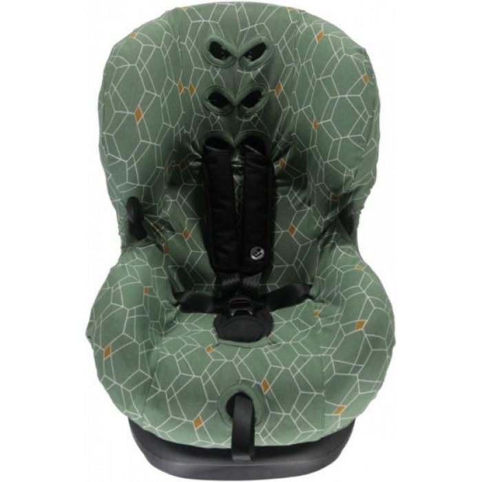 Briljant Baby autostoelhoes 1+ Deco junior katoen groen