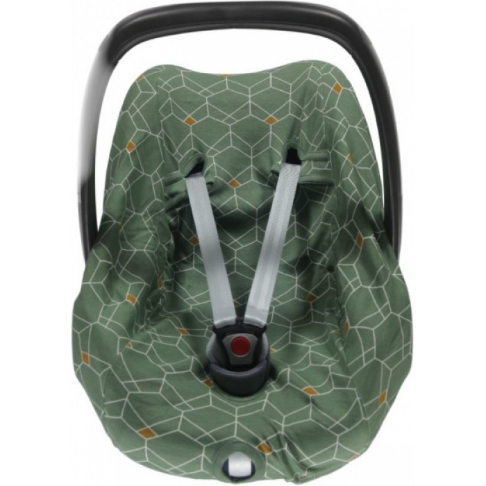 Briljant Baby autostoelhoes 0+ Deco junior katoen groen