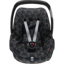 Briljant Baby autostoelhoes 0+ Deco junior katoen antraciet