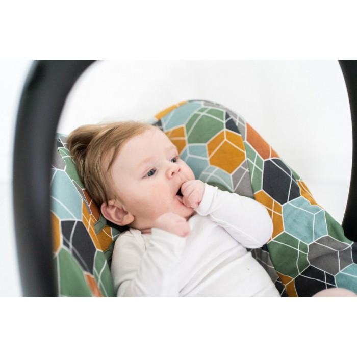 Briljant Baby autostoelhoes 0+ Deco junior katoen lichtgrijs