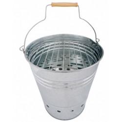 Esschert Design barbecue-emmer 30,5 x 35 x 34 cm RVS zilver