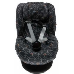 Briljant Baby autostoelhoes met rugsteun 1+ Deco antraciet