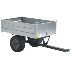 aanhangwagen Pro 170 x 75 cm staal zilver/zwart