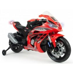 accuvoertuig Honda racemotor 12V rood