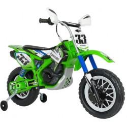 accuvoertuig motorfiets Cross Kawasaki 12 V 115 cm Groen