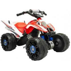 accuvoertuig quad Honda ATV jongens 12V 92 cm rood/wit