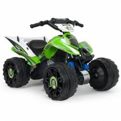 accuvoertuig quad Kawasaki 12V 76 cm groen