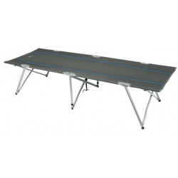 High Peak campingbed Oviedo 190 x 65 cm polyester/staal grijs