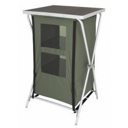 Eurotrail campingkast Aubenas 98 x 60 cm aluminium/MDF groen