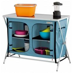 Eurotrail campingkast Bonaire 102 x 82 cm polyester lichtblauw
