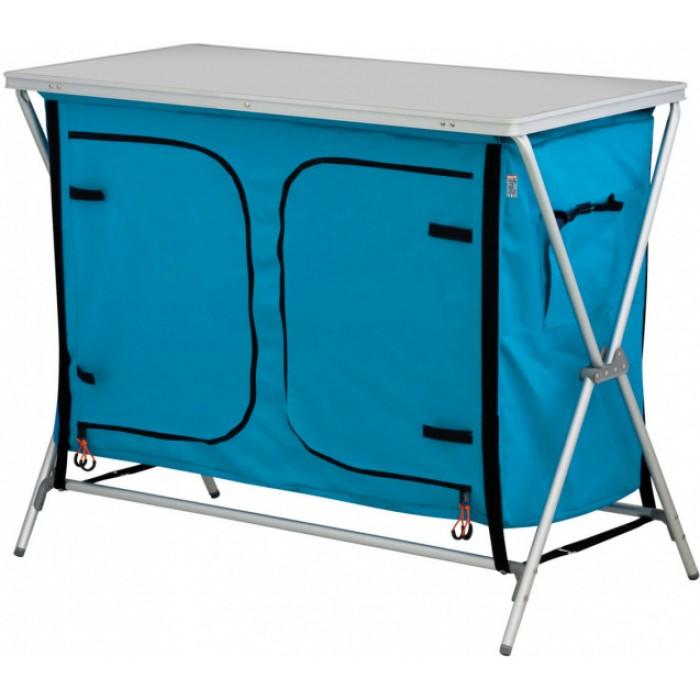 Eurotrail campingkast Bonaire 102 x 82 x 50 cm aluminium blauw