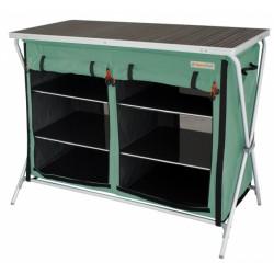 Eurotrail campingkast Brocas 110 x 52 x 90 cm aluminium groen/zwart