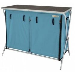 Eurotrail campingkast Brocas 110 x 90 cm aluminium lichtblauw