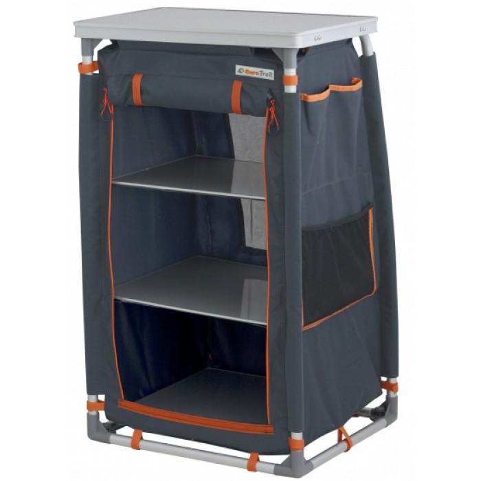 Eurotrail campingkast Lunas 57 x 56 x 98 cm aluminium navy