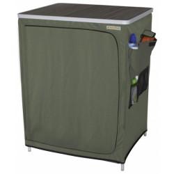 Eurotrail campingkast Vallou 86 x 67 x 53 cm aluminium/MDF groen