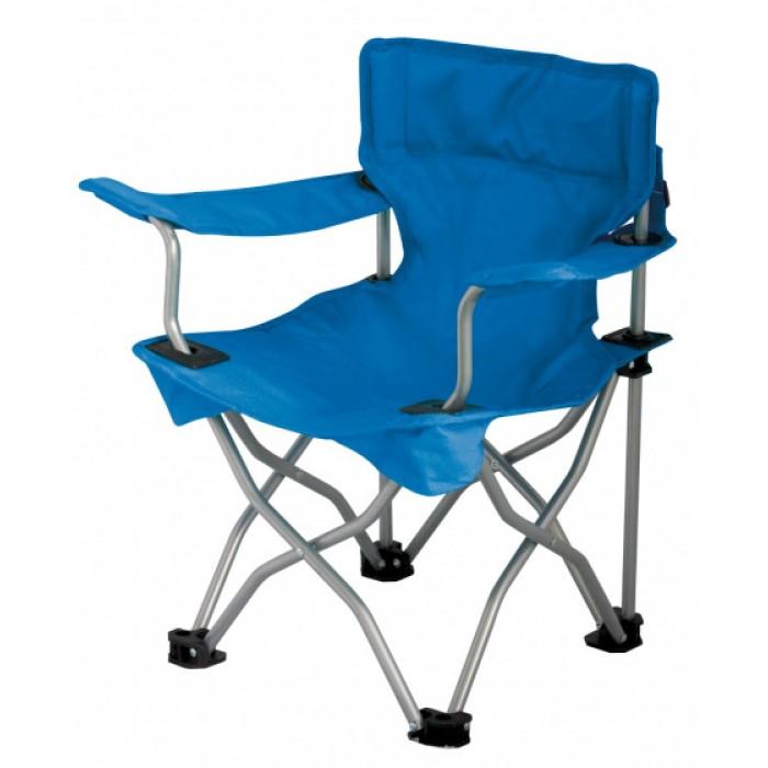 Eurotrail campingstoel Ardeche junior 34 x 27 cm staal blauw