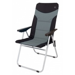 Eurotrail campingstoel Brasil 48 x 103 cm polyester zwart/grijs