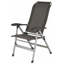 Eurotrail campingstoel Bretagne 119 cm aluminium donkergrijs