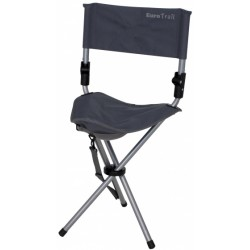 campingstoel Escabeau 37 x 33 x 76 cm staal grijs