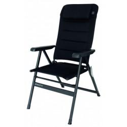 campingstoel Geneve 122 x 51 cm aluminium zwart