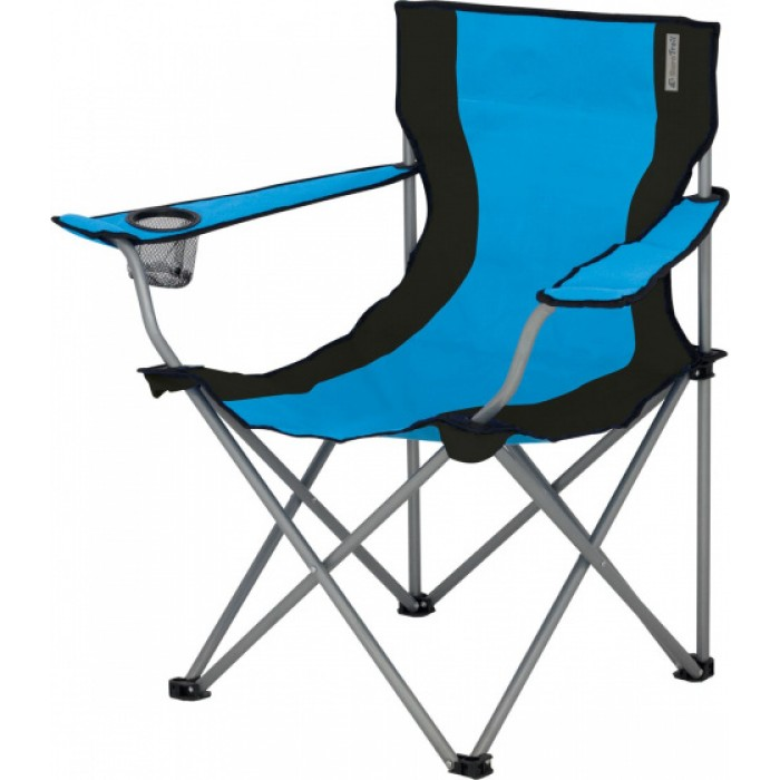Eurotrail campingstoel Lausanne 80 cm polyester lichtblauw