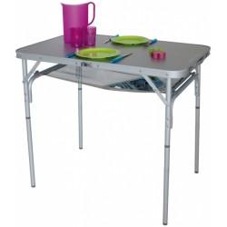Eurotrail campingtafel Monnai 90 x 70 x 60 cm aluminium grijs