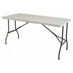 Eurotrail campingtafel Pavillon S 152 x 71 cm staal wit