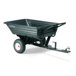 combi aanhangwagen 180 liter 123 x 84 cm zwart