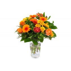 DeBlock Kim Medium Oranje boeket - 40 cm